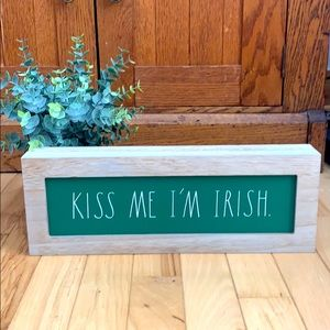 Rae Dunn Kiss Me I'm Irish sign